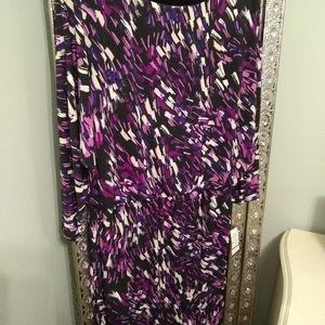 3/4 sleeve dolman blouson dress